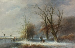 Jan Evert Morel houtsprokkelaars in de winter